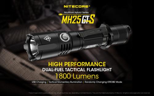 Nitecore MH25GTS 1800 Lumen USB Rechargeable LED Flashlight