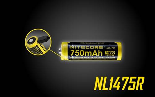 Nitecore NL1475R 14500 USB Rechargeable Lithium ion  battery