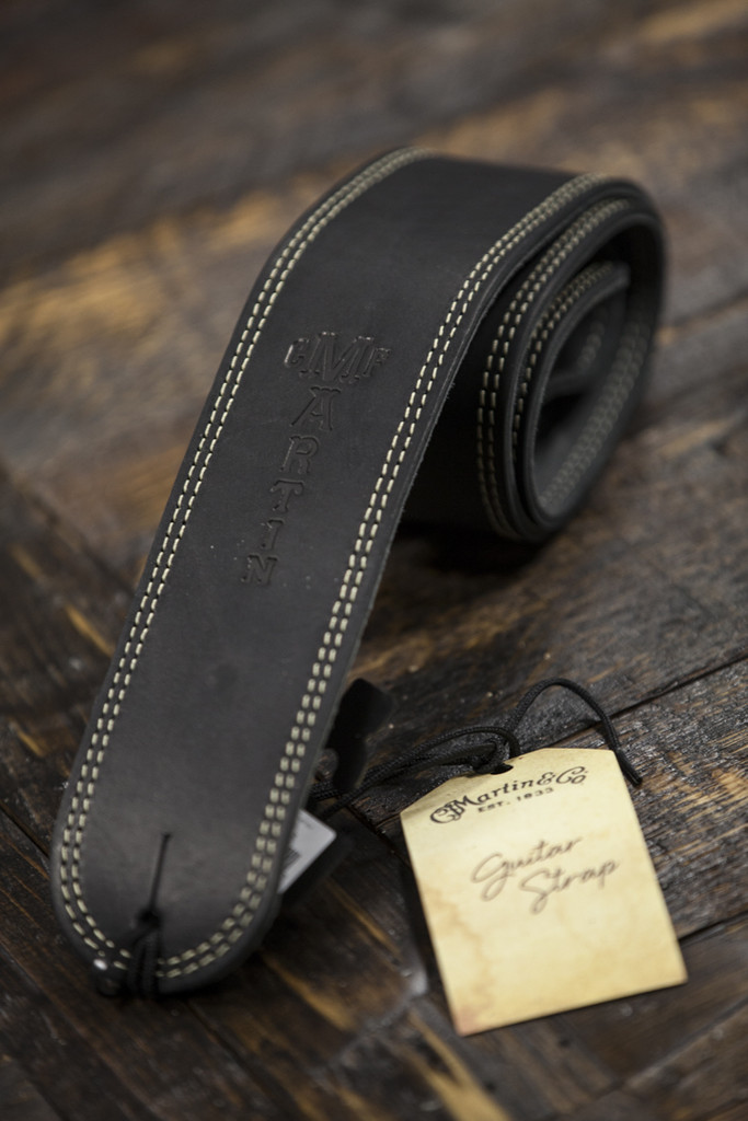 Martin Black Ball Glove Leather Guitar Strap (18A0013)