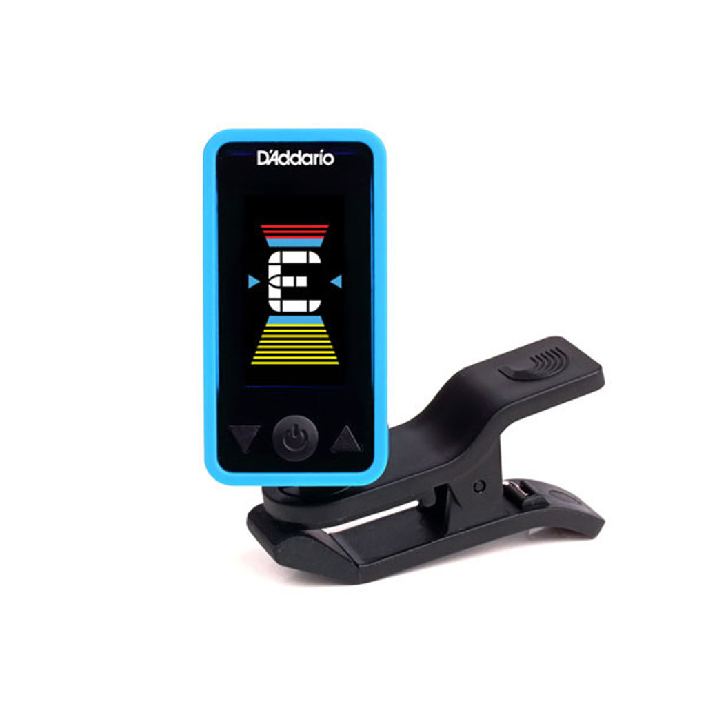 D'Addario Planet Waves Eclipse Clip-on Tuner in Blue