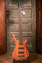 Warwick Pro Series Corvette Bubinga-5 String - Active - Natural Transparent Satin Electric Bass