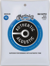 Martin Authentic MA150PK3 Medium Acoustic Guitar Strings - 3 Pack