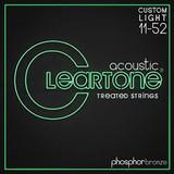 Cleartone Custom Light Gauge Acoustic Guitar Strings 11-52
