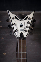 Used Dean Razorback 7 255 Metallic White/Black w/Case