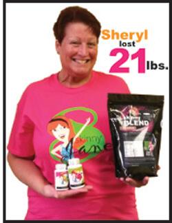 Sheryl lost 21 pounds!