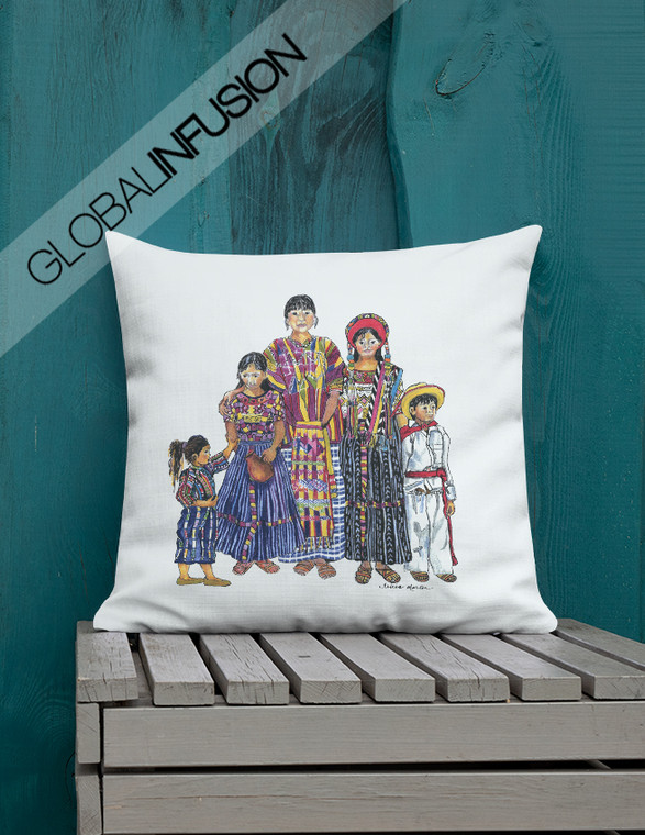 Women of  Peru Ethnic Art Throw Pillow
