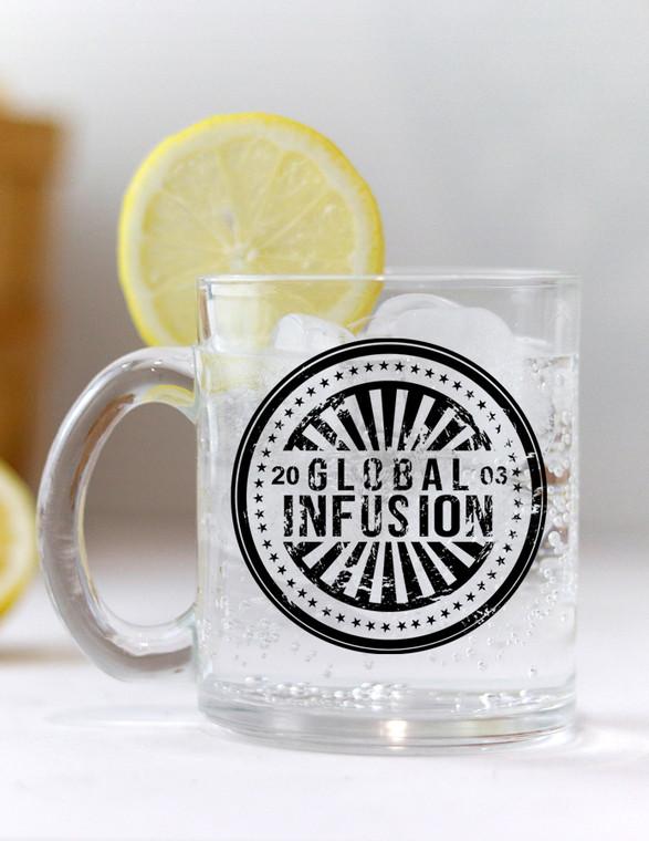 Global Infusion Est. 2003 Logo Glass Coffee Mug