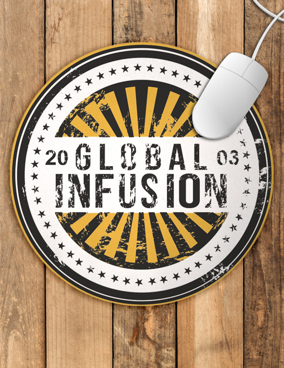 Global Infusion Logo Round Mousepad