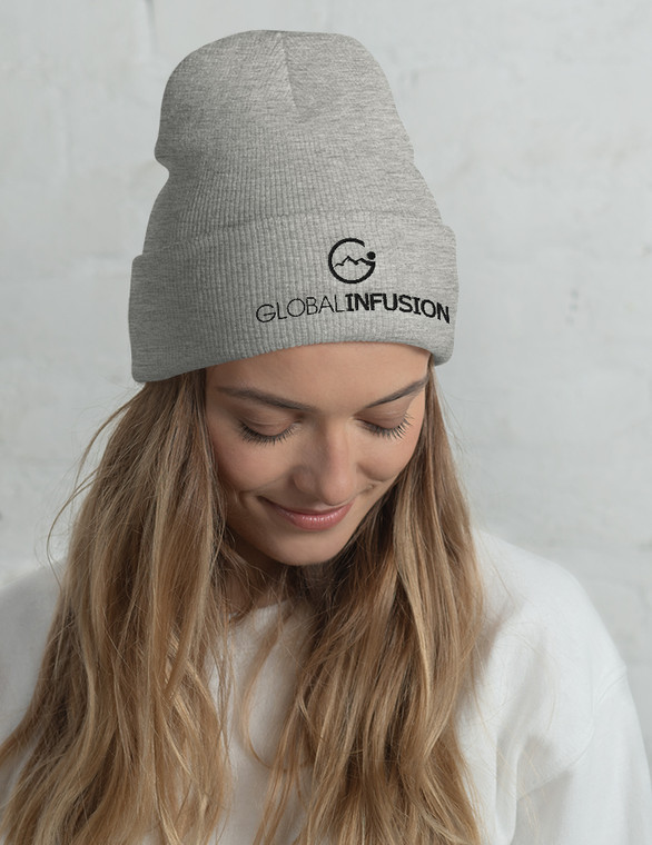 Global Infusion Embroidered Beanie Hat