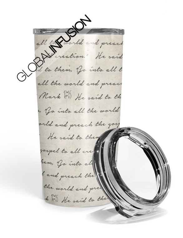 Go Into All The World Travel Tumbler