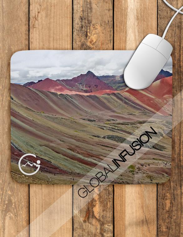 Rainbow Mountains in Peru Mousepad