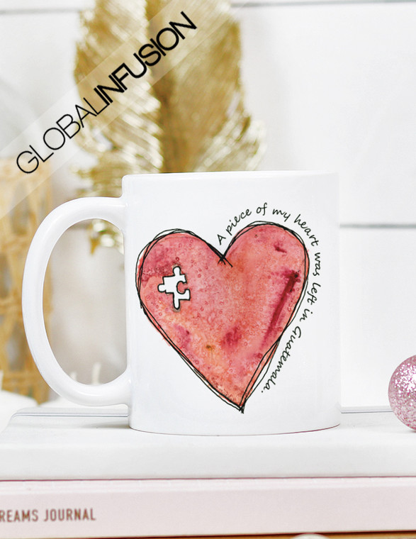 A Piece of My Heart Was Left in (Custom Country) Coffee Mug