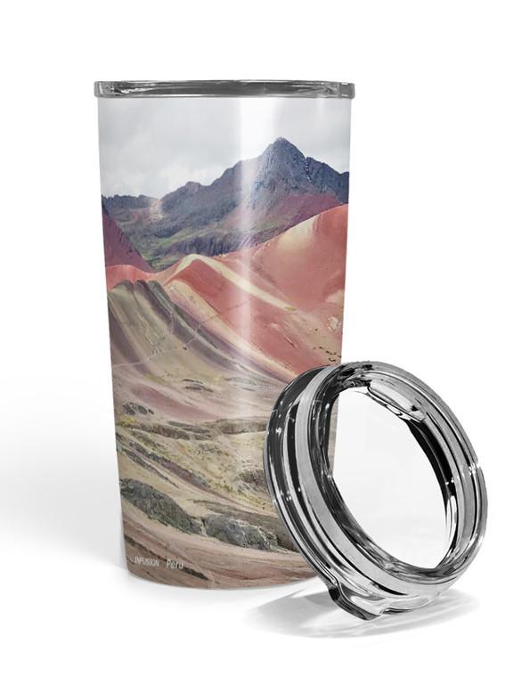 Rainbow Mountains Travel Tumbler