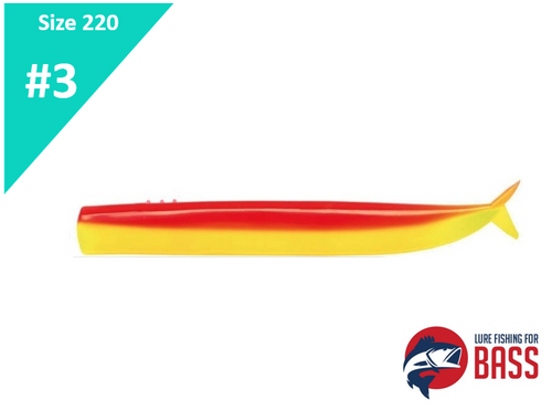 Fiiish Crazy Sand Eel 220 Body Rhubarb & Custard