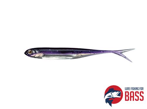 Fish Arrow Flash J Split SW 7 Inch Keimura Dark Purple Silver