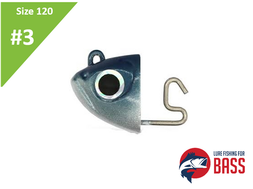 Fiiish Black Minnow #3 120 Jighead Shore Blue 12g