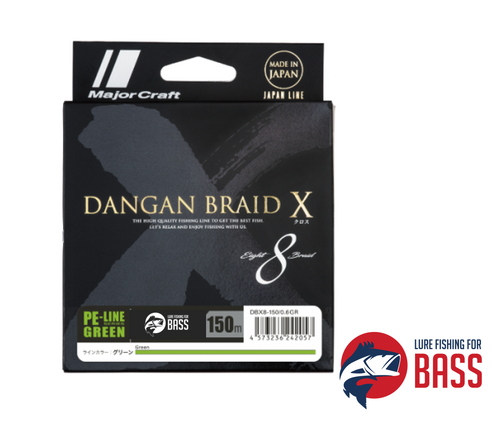 Major Craft Dangan Braid DBX8 Green 150m PE1 20lb