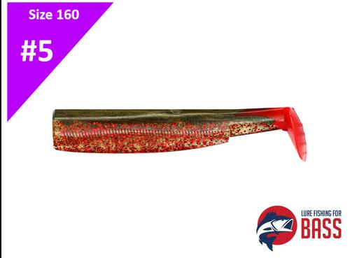 Fiiish Black Minnow 160 Body Khaki Red