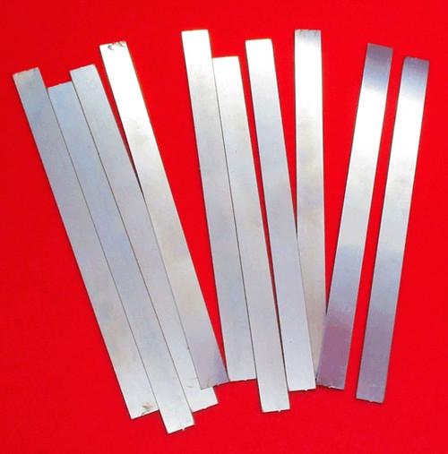 10 Piece- .500-5 inch- Raw Blanks- 0.025 Gov Steel