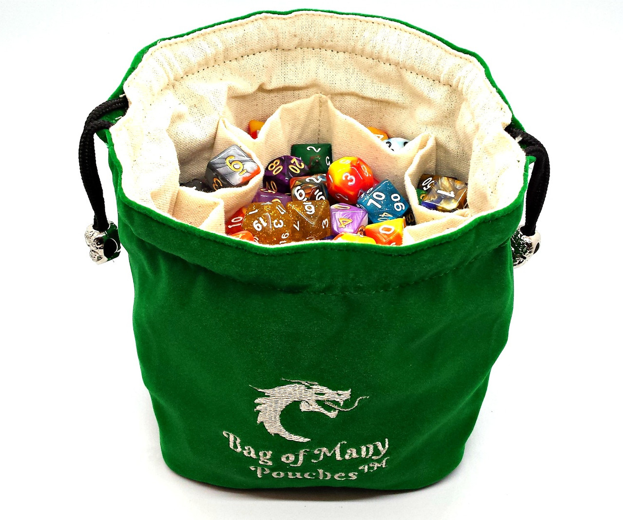 Bag Of Many Pouches Rpg Dnd Dice Bag Green