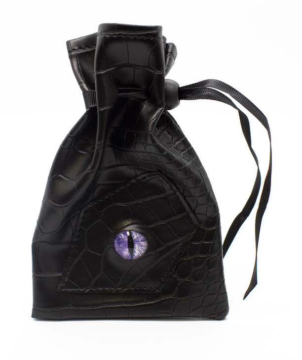 Dragon Eye RPG DnD Dice Bag: Black Dragon