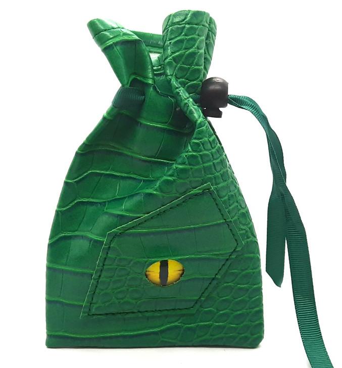 Dragon Eye RPG DnD Dice Bag: Green Dragon-New Color!