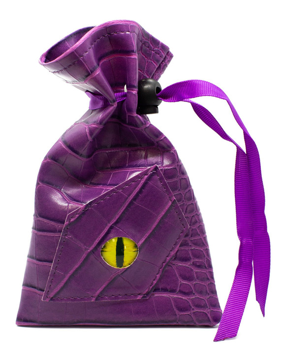 Dragon Eye RPG DnD Dice Bag: Purple Dragon