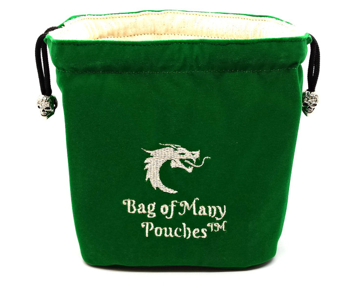Bag of Many Pouches RPG DnD Dice Bag: Green