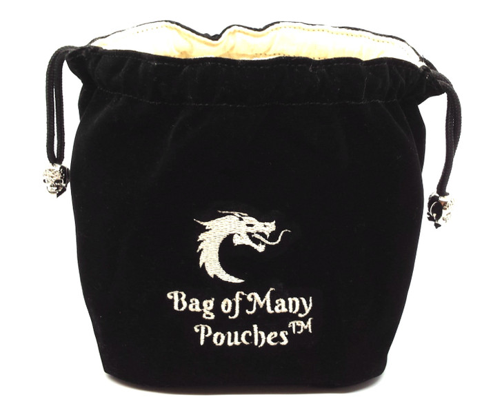Bag of Many Pouches RPG DnD Dice Bag: Black