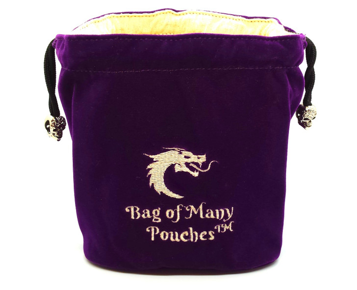 Bag of Many Pouches RPG DnD Dice Bag: Purple