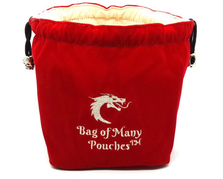 Bag of Many Pouches RPG DnD Dice Bag: Red