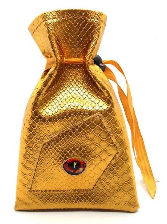 Dragon Eye RPG DnD Dice Bag: Gold Dragon