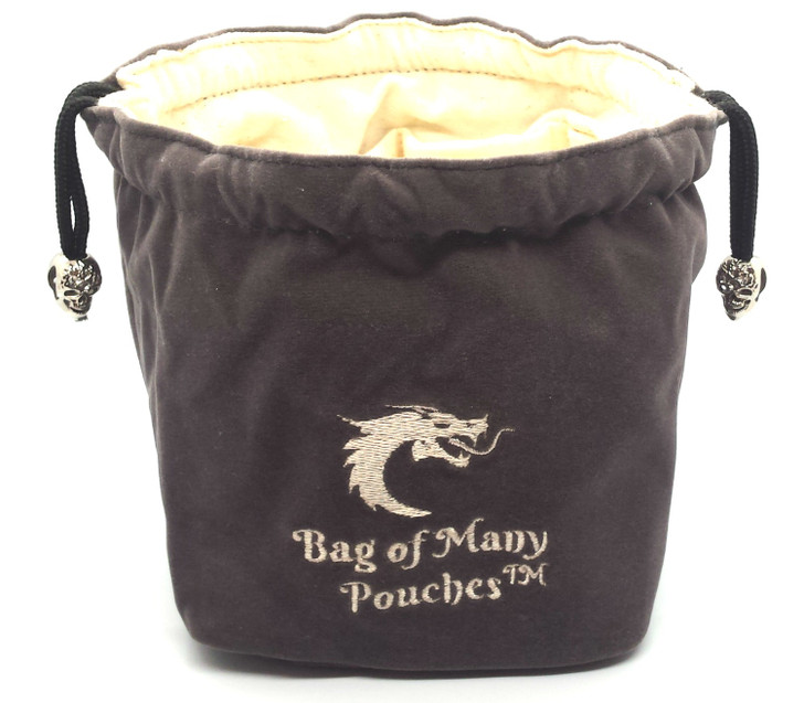 Bag of Many Pouches RPG DnD Dice Bag: Gray