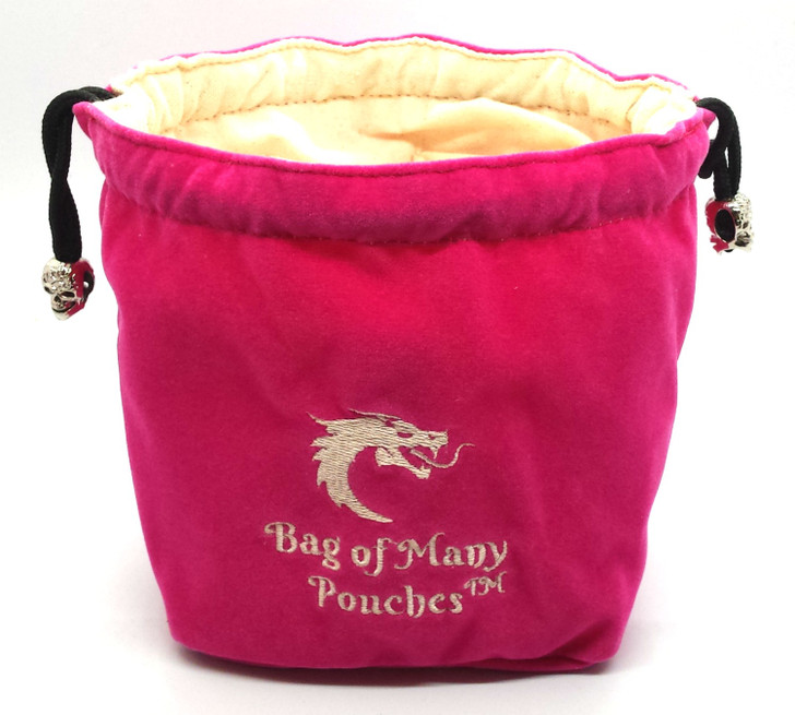 Bag of Many Pouches RPG DnD Dice Bag: Pink