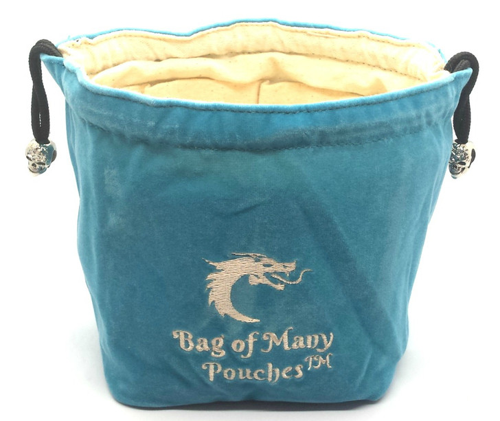 Bag of Many Pouches RPG DnD Dice Bag: Teal