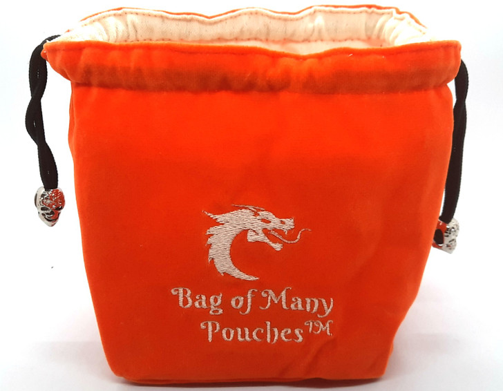 Bag of Many Pouches RPG DnD Dice Bag: Orange