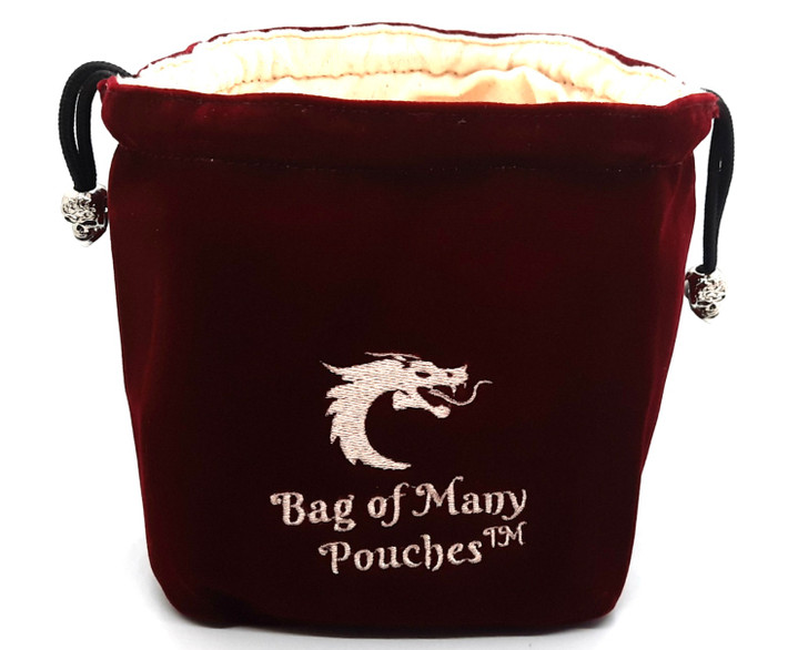 Bag of Many Pouches RPG DnD Dice Bag: Wine