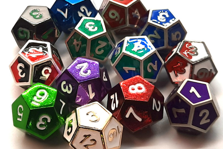 Old School DnD RPG Metal D12 (Random set of 4)