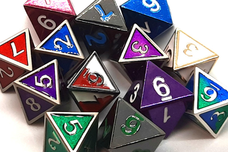 Old School DnD RPG Metal D8 (Random set of 4)
