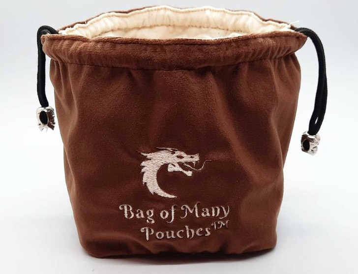 Bag of Many Pouches RPG DnD Dice Bag: Brown