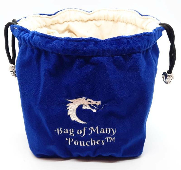 Bag of Many Pouches RPG DnD Dice Bag: Royal Blue
