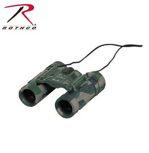 "Rothco's Compact 8 x 21MM Binoculars feature a rubberized armored roof prism with case. The Perfect Companion For The Outdoorsman, So Compact It Can Fit In Your Jacket Pocket, 8"" X 21"" Cf Camouflaged Compact Roof Prism , Fold Down Rubber Eyecups , Field Of View 372 Ft At 1,000 Yds, Weight 210g , Carrying Case"