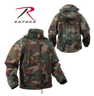 "Rothco's Soft Shell Tactical Jackets are constructed with a breathable moisture wicking fabric and feature a waterproof polyester shell. The 3-Layer construction deflects wind, wicks away moisture and retains body heat. While the jacket was designed for people in the field, this versatile jacket can be seen on the street to the slopes and is great for embroidery. The Spec Ops Soft Shell Tactical Jacket has a lined stand up collar with concealed detachable hood, the collar has zipper pouch to hold hood when hood is not in use, vent zipper under each arm, 4"" X 4"" loop side of hook & loop on each shoulder for patch attachment, drawstring waist, elastic hook & loop adjustable wrist cuffs."