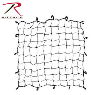 """Rothco Bungee Netting is a 60"""" x 60"""" elastic netting with 16 movable hooks, perfect for keeping cargo tied down."""