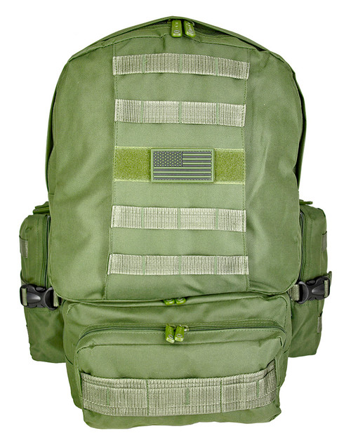 OLIVE DRAB GREEN BACK MOLLE system loops