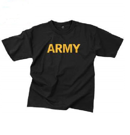 Rothco Army T-Shirt - Black and Gold (60363)