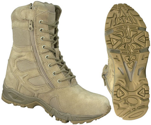 Forced Entry Deployment Boots Tan with Side Zipper