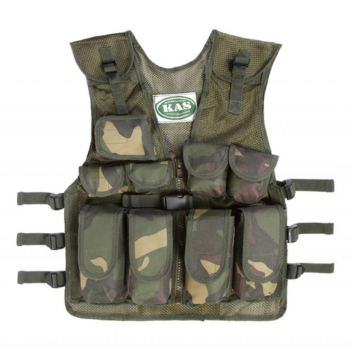 Kid's Army Camo Tactical Vest Woodland