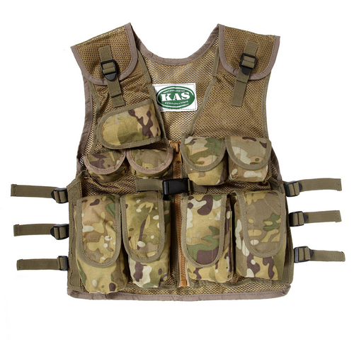Kid's Army Camo Tactical Vest Multicam
