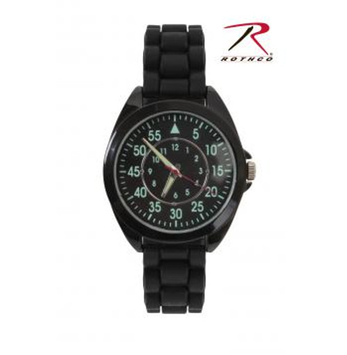 Rothco Military Style Watch with Silicone Strap